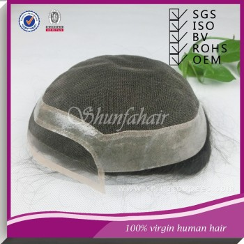 Wholesale natural hair pieces,Men's Toupee,indian remy hair toupee
