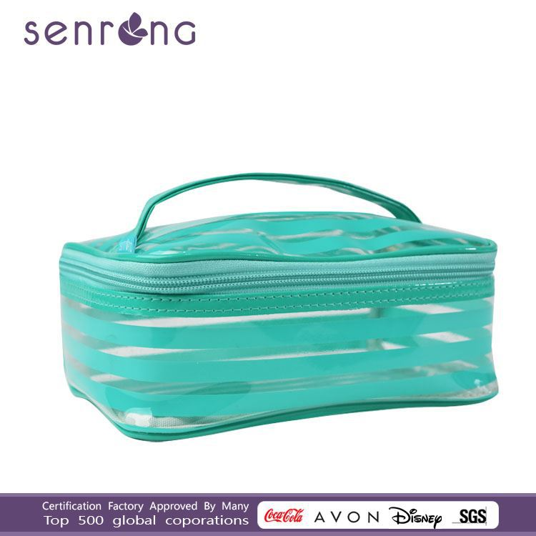 pu bag cosmetics wholesale with hand large cosmetic bags with compartments