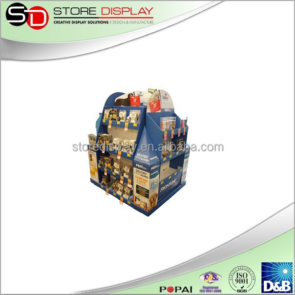 Custom cardboard floor stand lcd touch screen advertising display