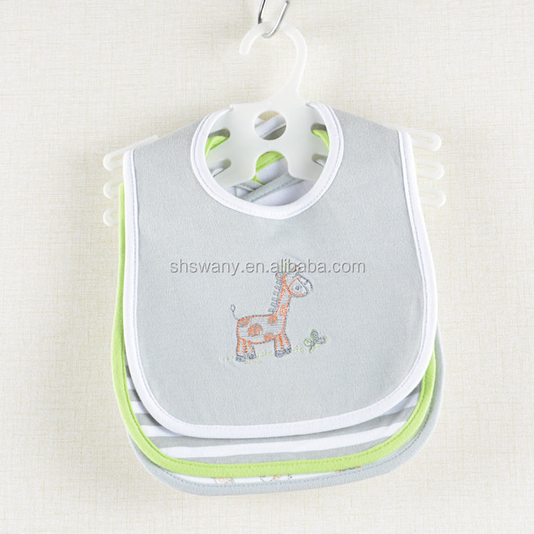 100 Cotton Embroidered Cotton Baby Bibs Wholesale