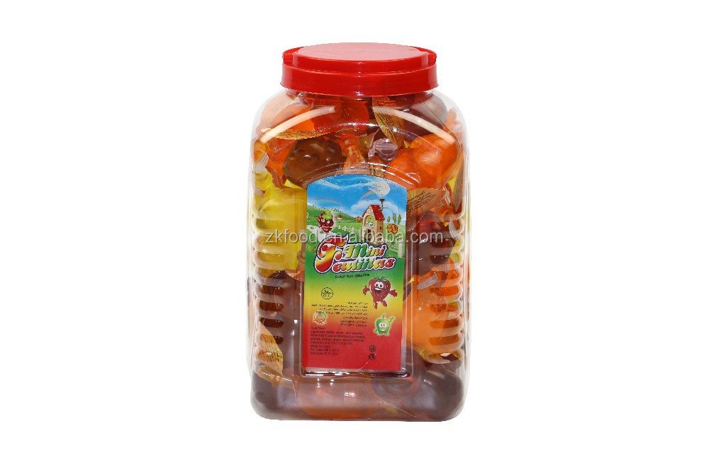 Animal paradise mixed assorted different shape fruit jelly in jar
