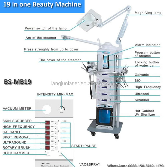 19 in 1 Multi-functional Ultrasonic Ozone Clean Beauty Machine For Face and Body Care