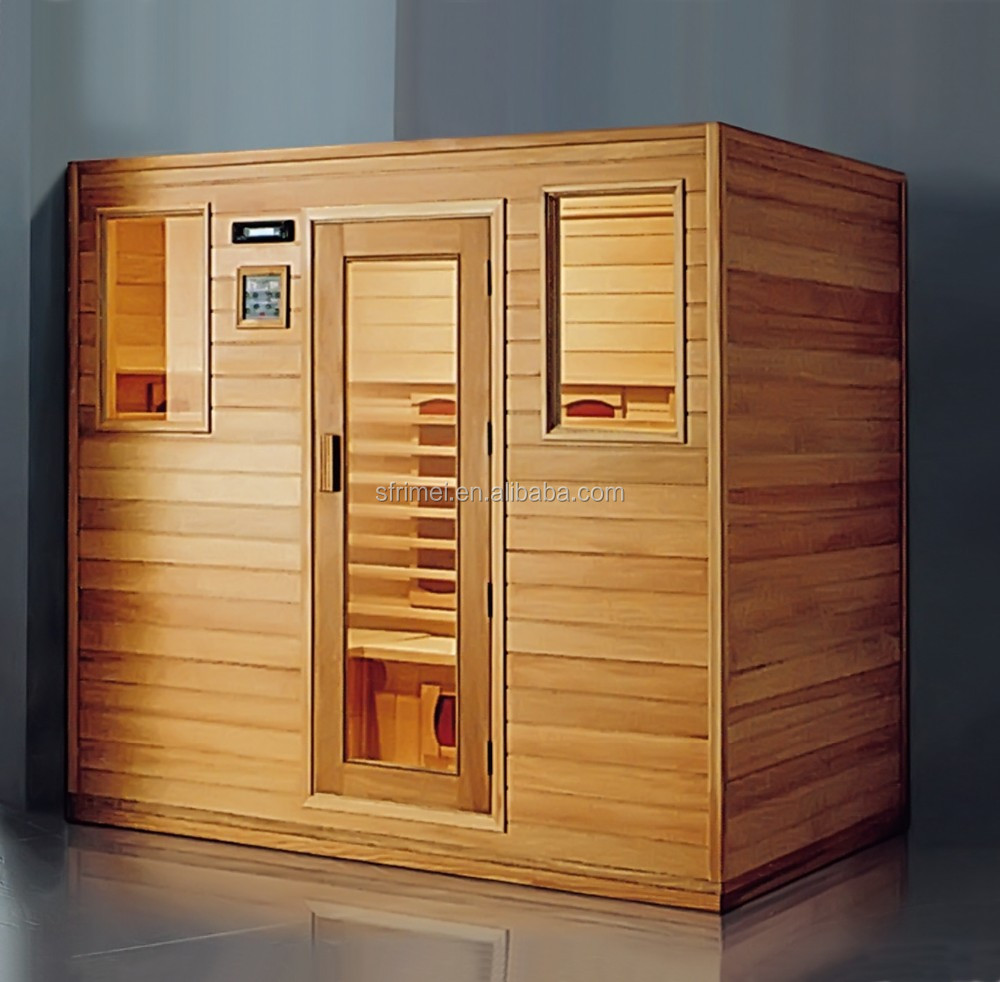 K-7119 house design in nepal low cost log cabin outdoor infrared sauna rooms with light