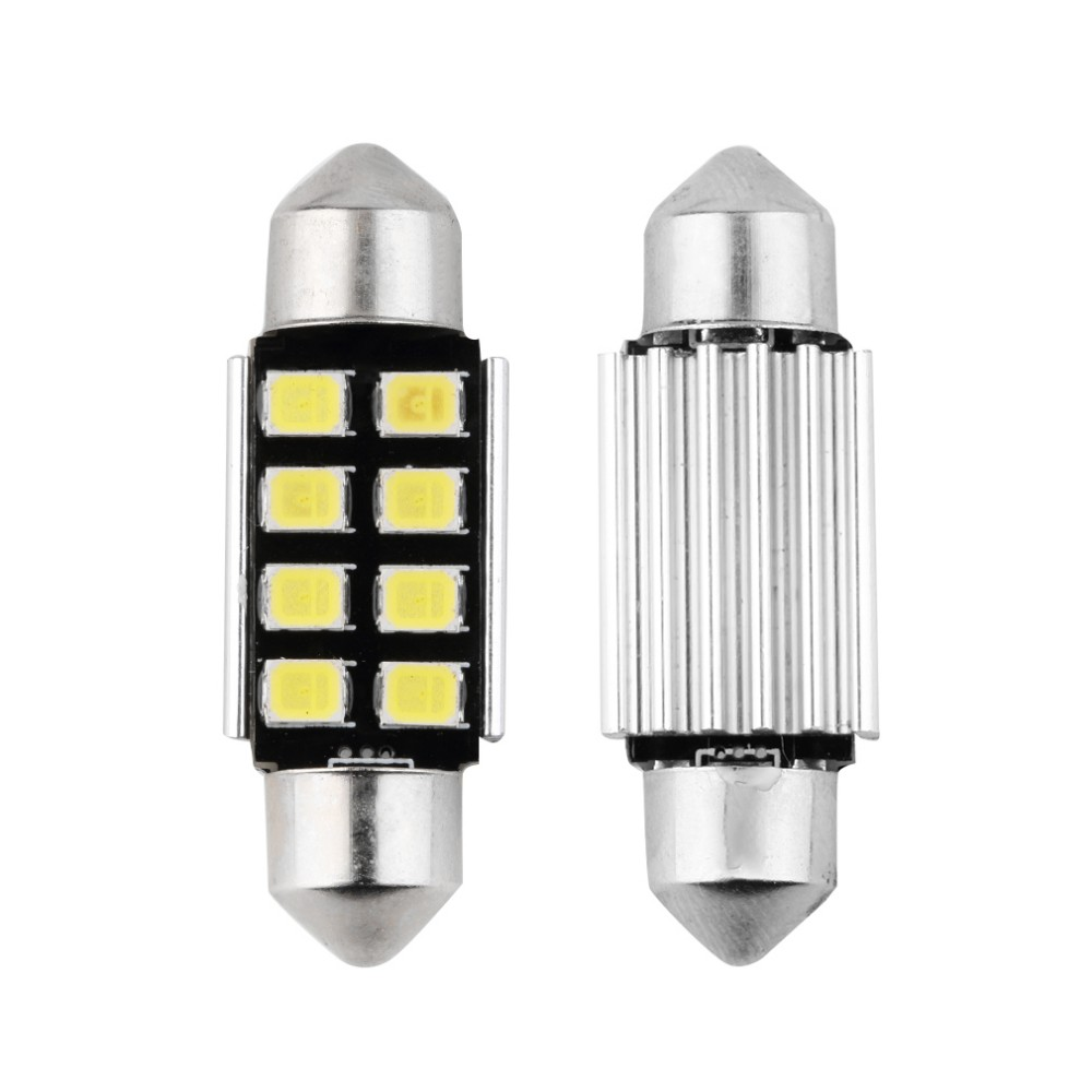 36mm White Dome Festoon CANBUS Error Free Car 8 LED Light c5w led Lamp auto Bulb 12V led interior light