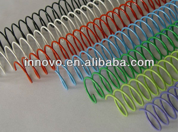 Nylon-coated single steel spiral wire