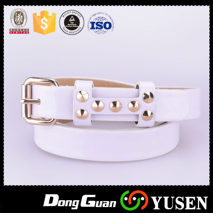 Fashion Women's Small Size Beaded Leather Belt