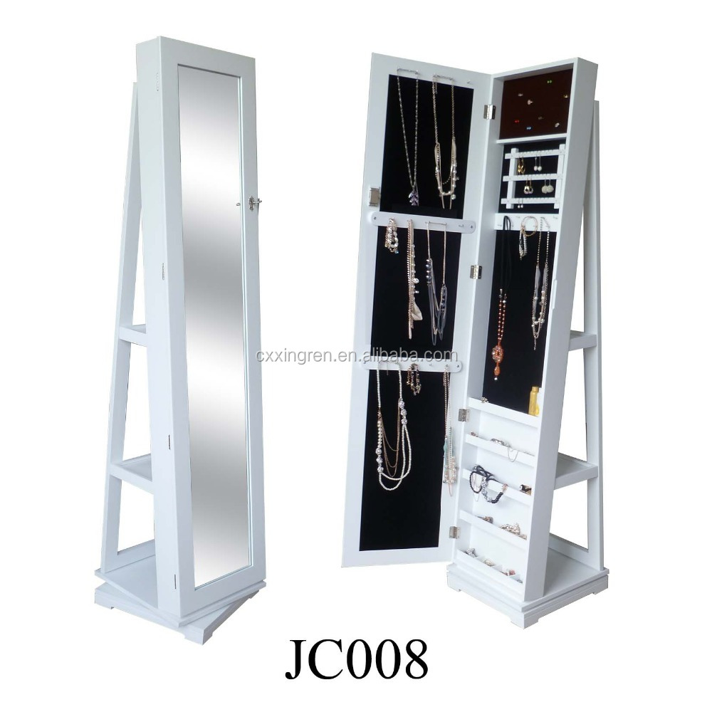 New Design China Factory Rotating Mirror Jewelry Cabinet