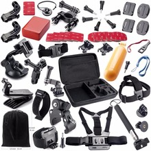 Portable Traveling go pro Accessories kits Set selfie stick suction cup monopod chest/head strap for GoPro Hero 5 4 3 SJCAM