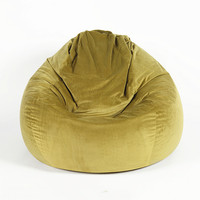 Idyllic Olive-Green Teardrop Giant Bean Bag/Puff Furniture Beanbag