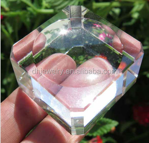 Clear Smelted Quartz Crystal Base for sphere egg Display Stand