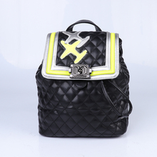 2018 new design school bag black pu backpack for girls and boys