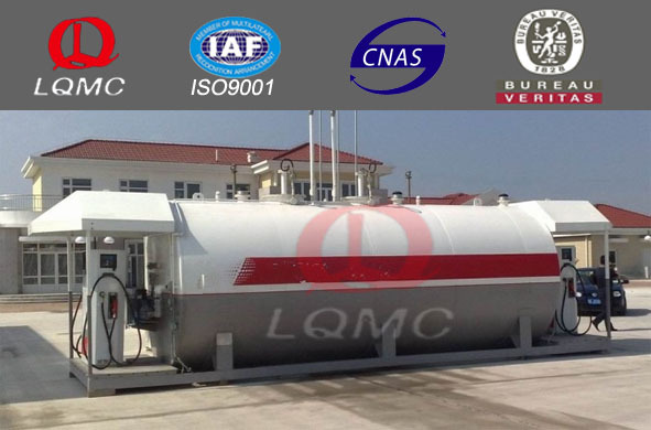ISO certificate fuel filling station/double wall or single wall tank container station