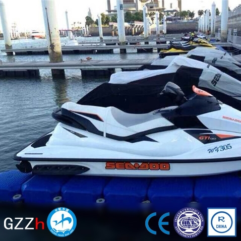 Slip resistant surface modular watercraft floating dock for sale