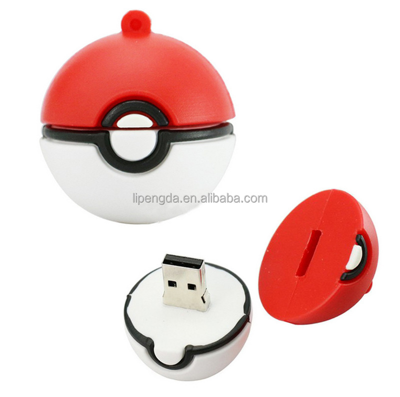 Christmas promotional gift 2016 Pokemon ball usb flash drive bulk cheap flash memory usb