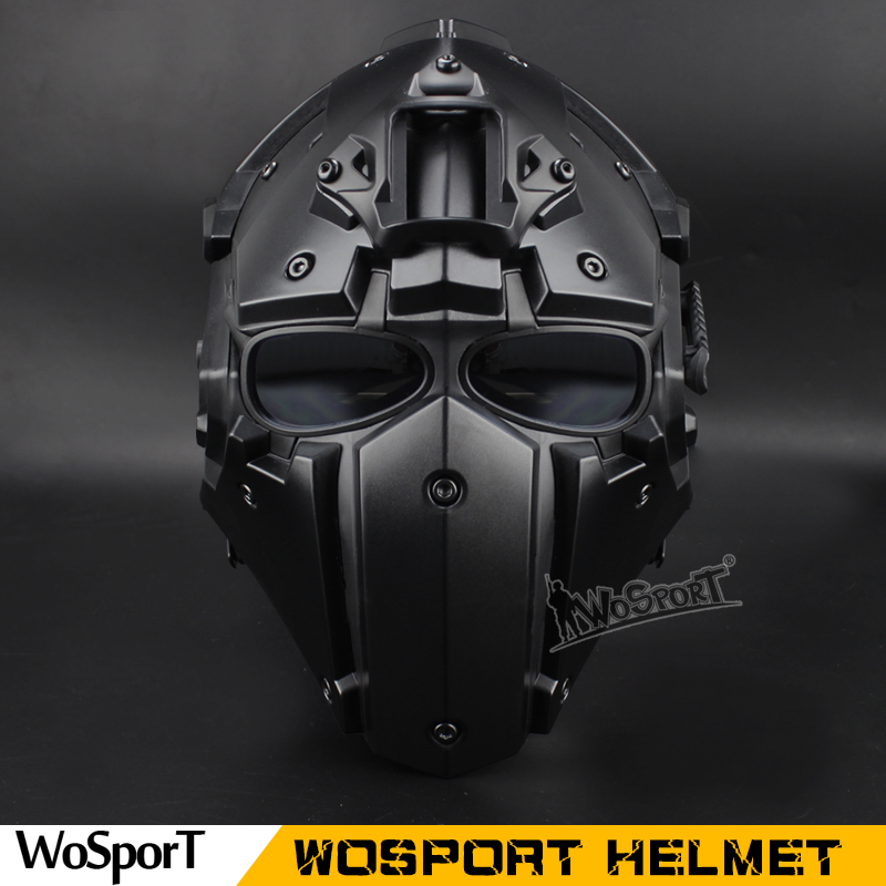 WoSporT DIY Assembling Unique WST Helmet with NVG Shroud and Transfer Base for CS Airsoft Paintball for color termimator