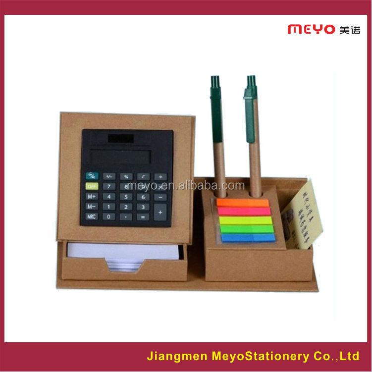 Stationery,recyled paper sticker holder with calculator,promotional gift items