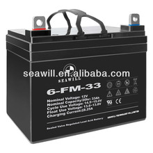 Deep cycle battery 12v 33Ah for lawn mowers