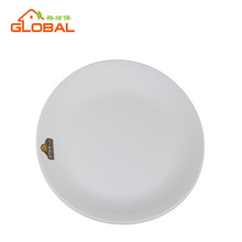 White oval shape melamine dinner plate