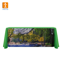 Heat resistant elastic polyester table cover with custom logo
