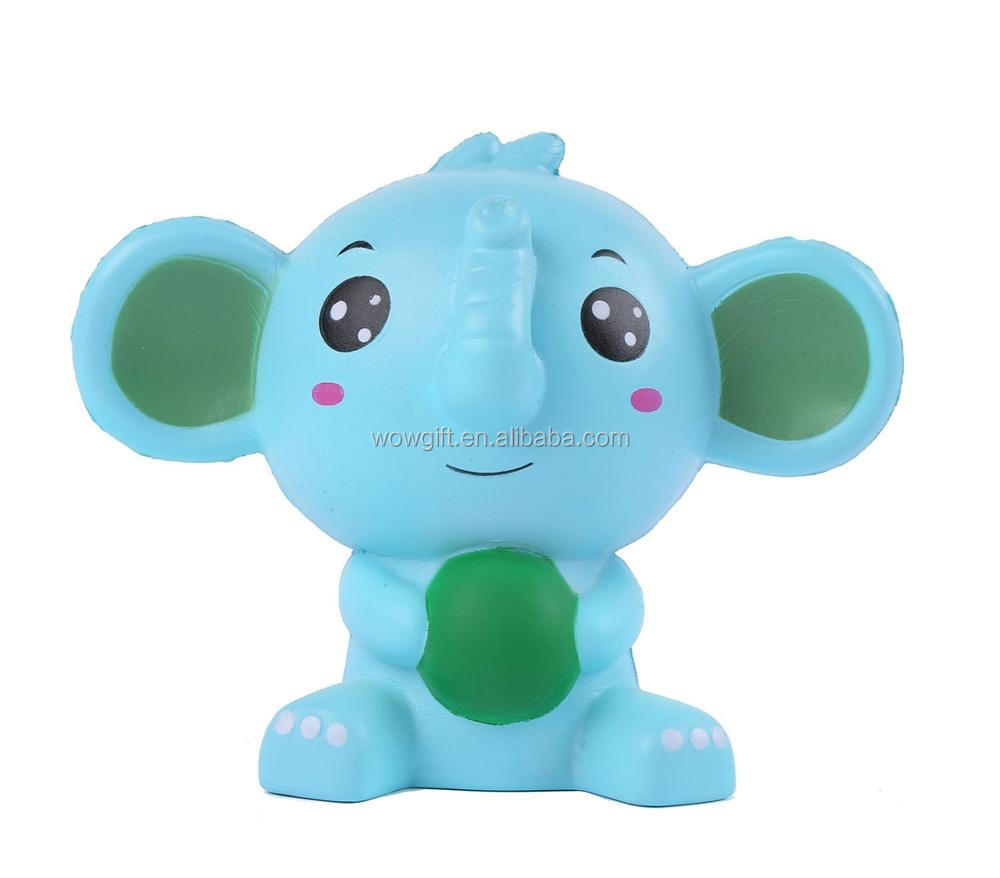 Jumbo Squishy Blue Elephant Kawaii Cream Scented Super Squishies Slow Rising Decompression Squeeze Toys