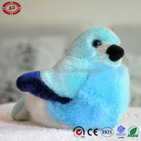 Americal blue bird cute kids fancy plush soft stuffed toy