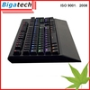 Three Color Backlight Multimedia Ergonomic Gaming Keyboard Blue/Red/Green