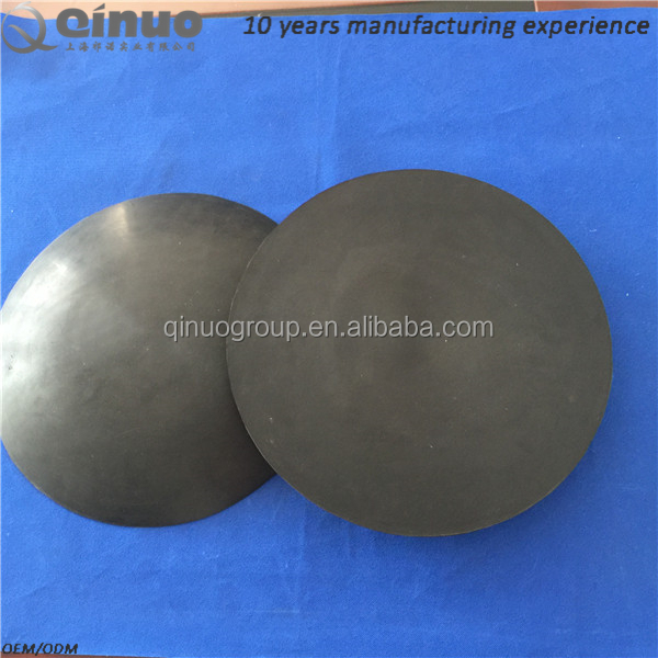 41cm black round anti-slip silicone rubber foot pads