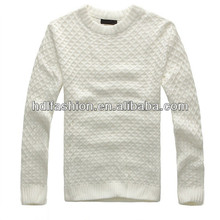 Men's latest fashion design of hand knitting sweater