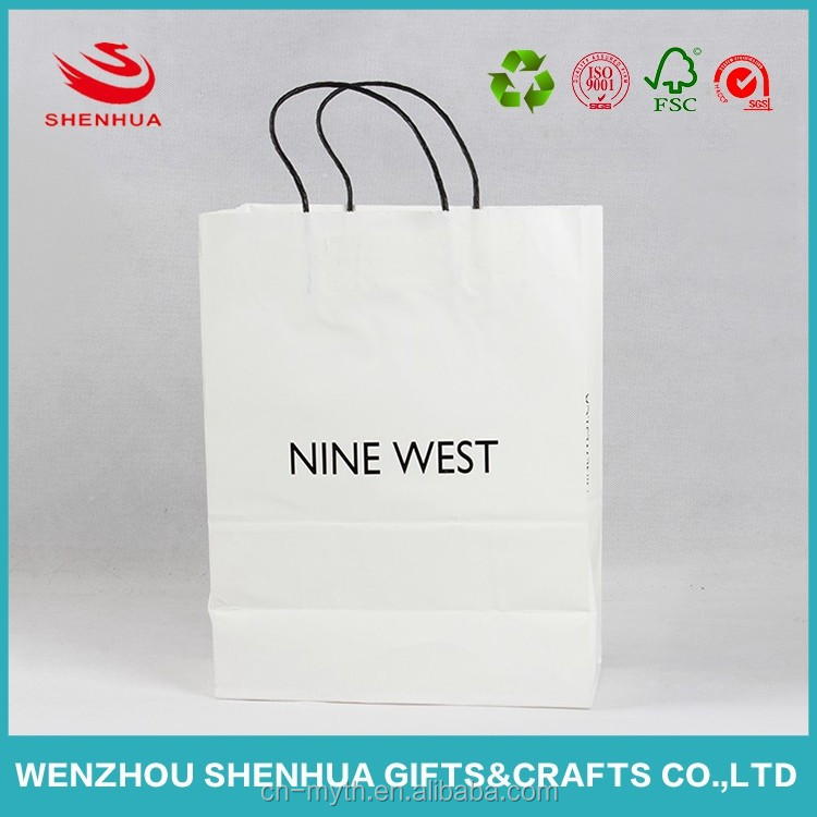 Wholesale Custom design own Logo Printed Cheap Luxury Recyclable Shopping gift Brown Kraft Paper Bag With