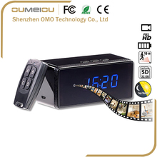 Rechargeable 1080p IR Night Vision Remote Control Desk Clock Hidden Camera