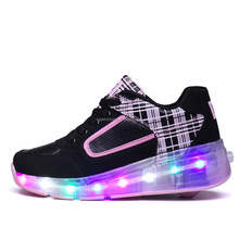 2017 Good Selling Led Light Kids Shoes With Single Heel