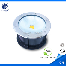 20W IP65 in ground led outdoor lighting floor mounted