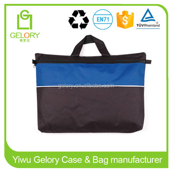 Custom polyester material A4 size zipper document bag