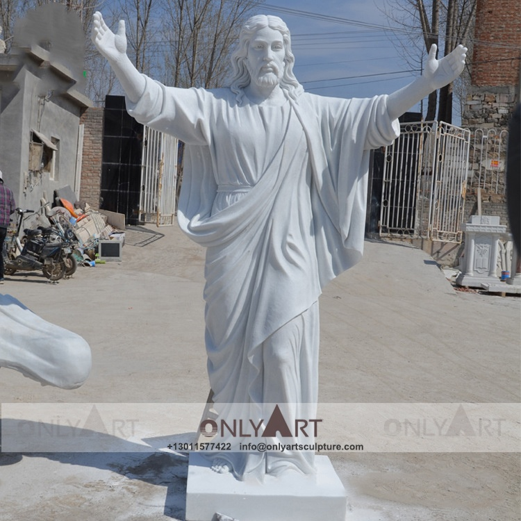 Christ church happy cheap outdoor marble stone life size nativity jesus set statues