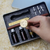 wooden fountain calligraphy pen set ancient bottle sealing wax and stamp