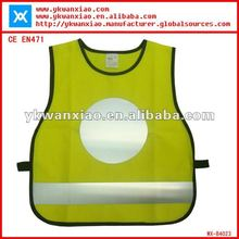High visbility safety kids vest with Heat Transfer Film,High visibility kids vest,safety kids vest