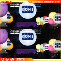 Party decoration advertising cheap Led lighting inflatable hanging balloon/ large decoration floating lighting balloon for sale