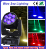 7x12w rgbw zoom led used moving head lights colorful stage lighting