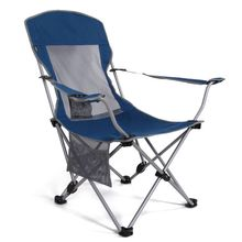 Outdoor portable folding fishing chair beach camping two gear adjustable high back lounger