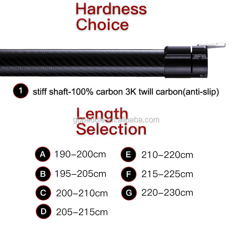 surfing suf ski carbon wing kayak paddle