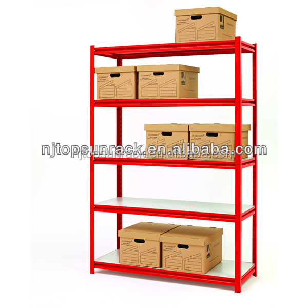 Light duty cold rolled steel warehouse storage rack/metal shelving rack/grocery store shelf