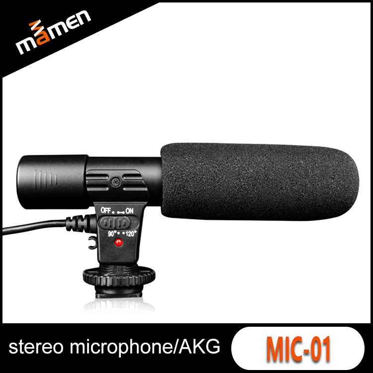 Stereo Video Mic Microphone Voice Tube Transmitter Speaking Trumpet Megaphone For Nikon/Canon Camera DV Camcorder