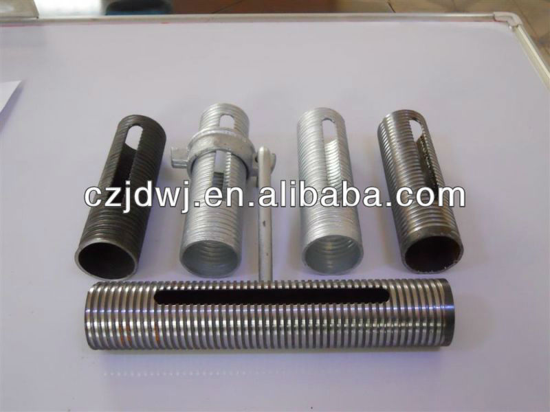 galvanized steel pipe sleeve Prop sleeve Shoring Prop Screw Prop accessaaries