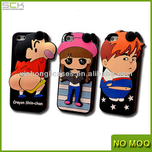 3D Silicon Mobile Phone Case with Earphone Intergrated Cover