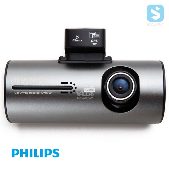 Philips 1080p Car Video Camera Recorder with GPS Tracker