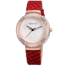 New Fashion Large Dial Quartz Leather Band Women Wrist Watch