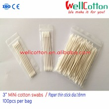MINI cotton tips cosmetic cotton swab/paper stick / COTTON BUDS