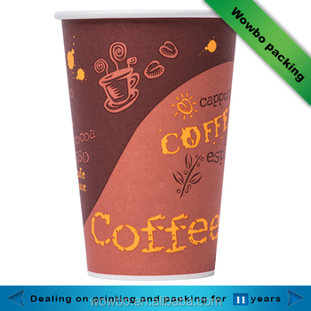 20oz single wall logo printed stackable coffee paper cups