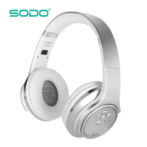 SODO Promotion Extra Bass Metal Printed Over Ear 2 in 1 Wireless Bluetooth Headphones Speaker for iphone