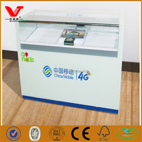 China Mobile store used glass phone accessories display counter cabinets
